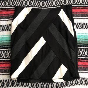 WHBM Colorblock Skirt
